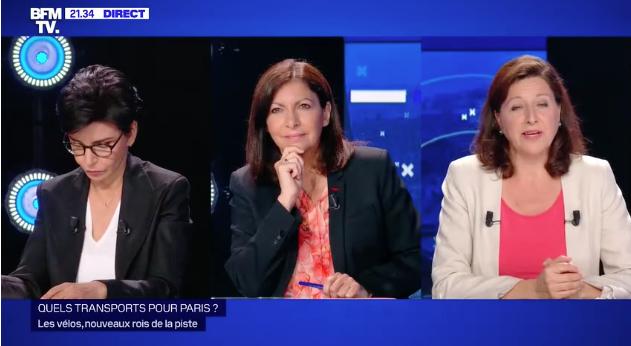 Les femmes politiques Rachida Dati, Anne Hidalgo et Agnès Buzyn