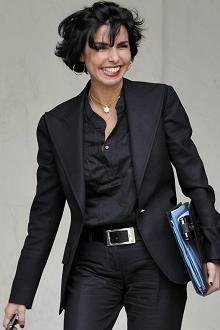 La femme politique Rachida Dati