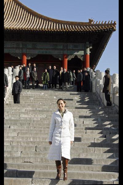 La femme politique Ségolène Royal en Chine