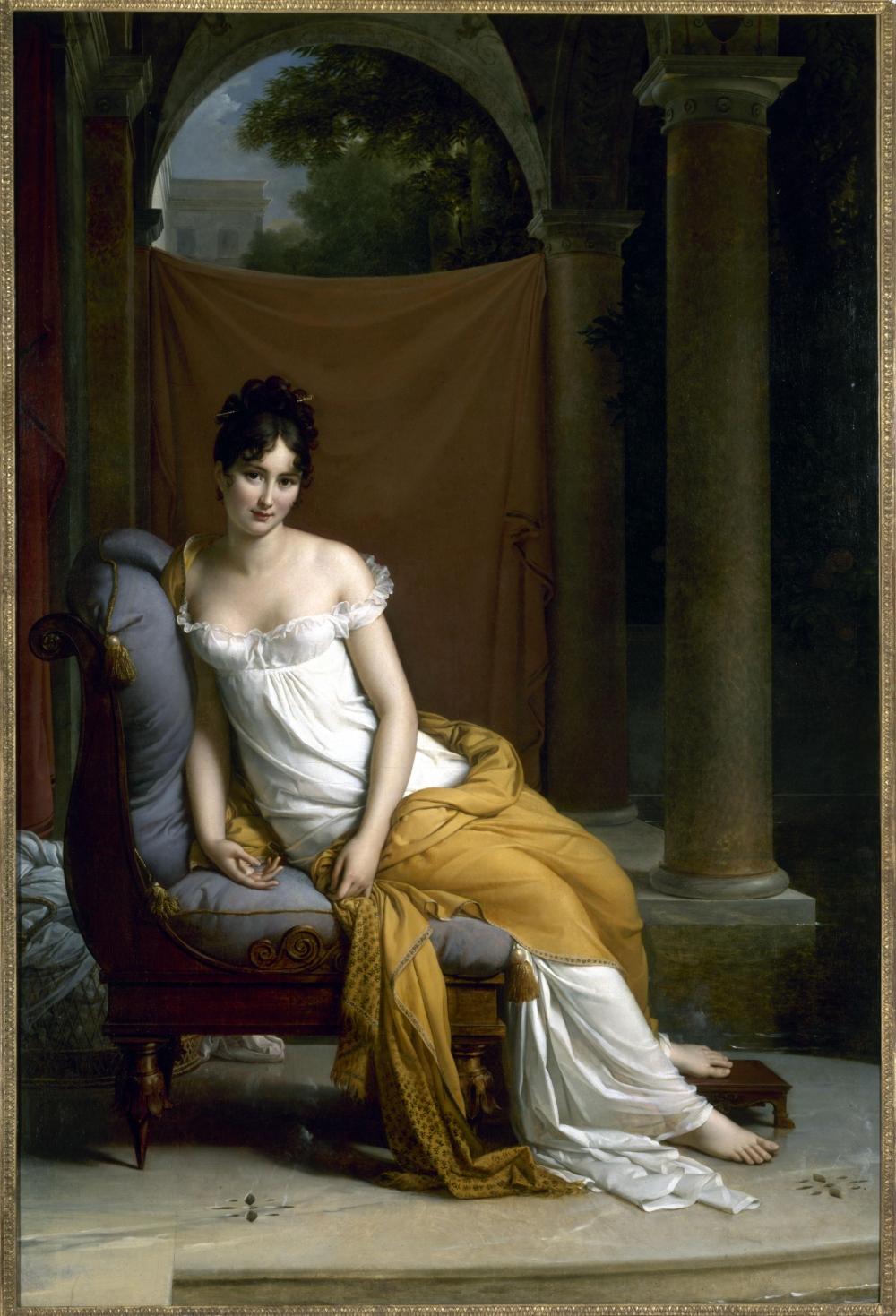 Madame Récamier en robe empire